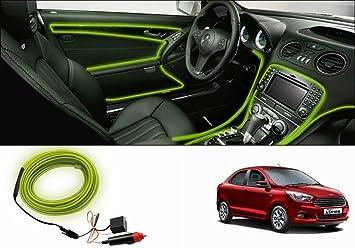 Speedwav Car Interior Ambient Wire Decorative LED Light Lemon Ford Figo Aspire