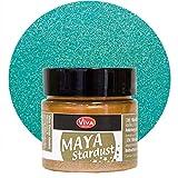 Maya Stardust 45ml (Türkis) - - - Glanz-Farbe, Metallic-Farben, Acryl-Metallic, Metallica-Farben, Acryl Beton-Farbe, wetterfest von Viva-Decor