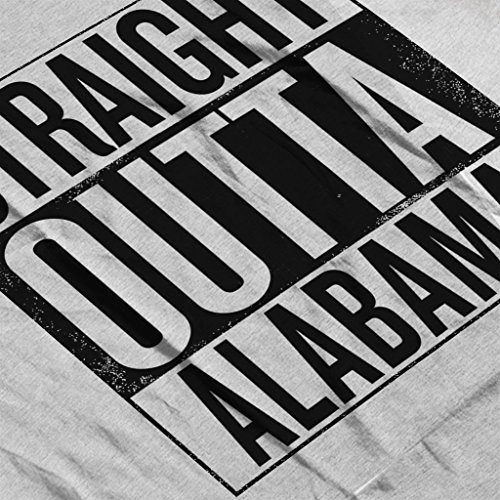 Black Text Straight Outta Alabama US States Women's Sweatshirt Heather Grey
