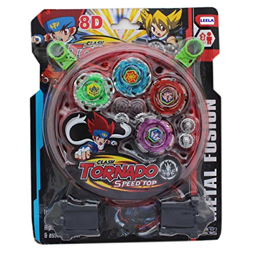 Leela Play Beyblade Toy Set With Ripchord Launcher 4 Blade For Kids
