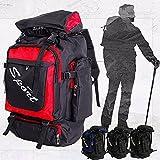 Bazaar 60L unisex gran anti-desgarro camping senderismo mochila bolsa de equipaje de viaje mochila al aire libre