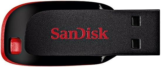 SanDisk Cruzer Blade 16GB USB-Stick schwarz/rot [Amazon Frustfreie Verpackung]