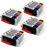 20 patronen kompatibel zu Canon 570 571 für Canon PIXMA TS6050 TS6051 TS6052 TS5050 TS5051 TS5053 TS5055 MG5750 MG5751 MG5752 MG5753 MG6850 MG6851 MG6852 MG6853