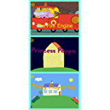 Storybook Collection: The Fire Engine, Princess Peppa and Teddy Playgroup - Great Picture Book For Kids