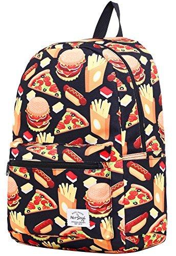 HotStyle TrendyMax Galaxy Sac à dos Scolaire - Peut contenir un ordinateur portable jusqu'à 15 pouces - Hamburger