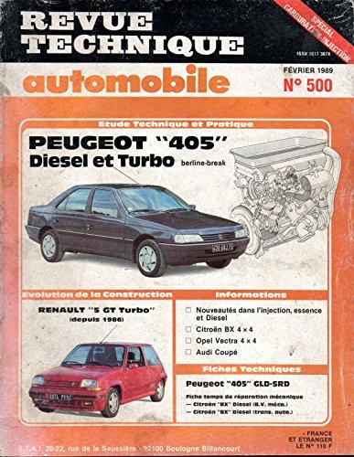 REVUE TECHNIQUE AUTOMOBILE N° 500 PEUGEOT 405 DIESEL ET TURBO DIESEL GLD / GRD / GRD TURBO / SRD TURBO par E.T.A.I.