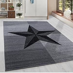 Teppich Grau Mit Weissen Sternen Gunstig Online Kaufen Dein Mobelhaus