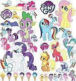 My Little Pony Cartoon Wandaufkleber für Schlafzimmer Jungen und Mädchen Wandbild Aufkleber Größe: Groß 76 cm X 72 cm