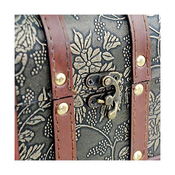 Brynnberg Scrigno del Tesoro Vintage Bauletto Stile Antico per Accessori Gioielli Oggetti di Valore, Cassaforte in Legno, Idea Regalo Decorativa 22x14x14cm