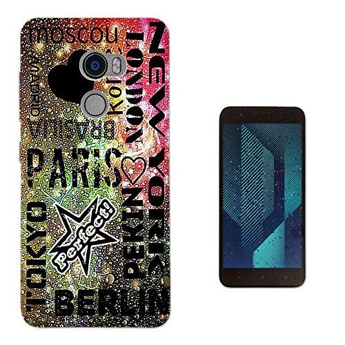 002308 - Collage Cities New York Tokyo Paris Rome Berlin Design HTC One X10 LTE-A (HTC E66) Fashion Trend Silikon Hülle Schutzhülle Schutzcase Gel Rubber Silicone Hülle