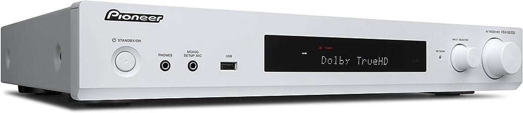 Pioneer 5.1 Kanal AV Receiver, VSX-S520D-W, Hifi Verstärker 80 Watt/Kanal, Multiroom, WLAN, Bluetooth, Hi-Res Audio, Streaming, Dolby TrueHD/DTS-HD, Musik Apps (Spotify, Tidal, Deezer), DAB+, Weiss, 1500174