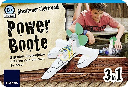 SmartKids Abenteuer Elektronik Powerboote: 3 geniale Bauprojekte mit allen elektronischen Bauteilen por Ulrich E. Stempel