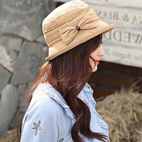 ZHANGYONG*Cap bassin printemps toile femme pêcheur sauvages étudiants cap ombragé belle marée chapeau ,52-56cm, carte son