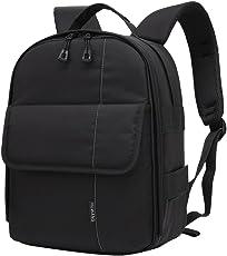 Segolike DSLR Camera Backpack Rucksack Bag Case+Rain Cover for Sony Laptop PC Green