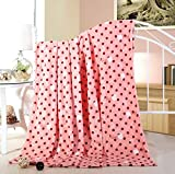 Best Baby Monitors For Twins - ChezMax Bedding Extra Soft Coral Fleece Blanket Lightweight Review