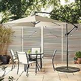 Nova Outdoor Living Cantilever Parasol - Garden Steel Metal Outdoor Patio Umbrella Sun