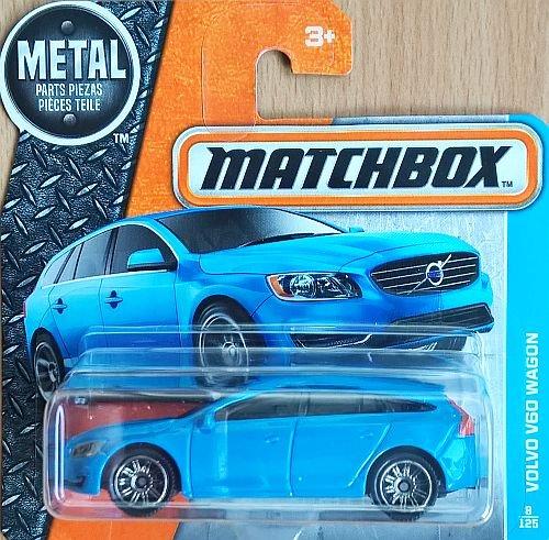 Preisvergleich Produktbild MATCHBOX Volvo V60 Wagon / Volvo Kombi - 1:64 - himmelblau
