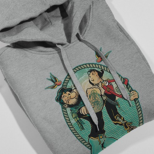 Popeye Me And My Lady Women's Hooded Sweatshirt Heather Grey
