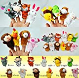 #5: Velvet Finger Puppets, Animal Puppets set of 12 pcs with Tiger,Baby Education Puppet Play
