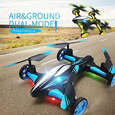 Lispeed RC Quadcopter Flying Car 2 in 1 Air Road Flying Quadcopter Toy RC RC Car and RC Quadcopter Drone Flying with 6 Axis Gyroscope