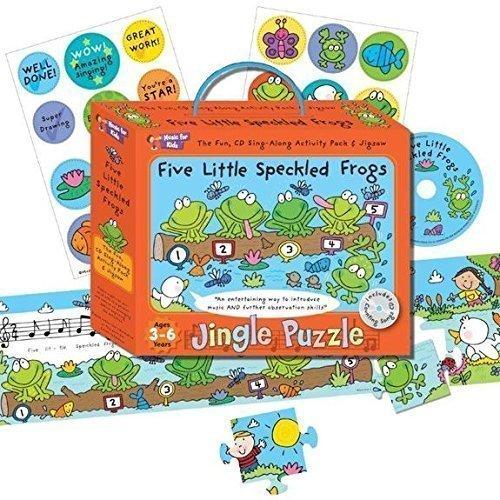 fürMusic For Kids Puzzle Aktivitäts-Pack Kinder Innen- lustige Spiele Melodie puzzle - Fünf Kleine Gefleckt Frösche
