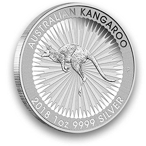 Silbermünze Australien Känguru - 2018 - 1 Unze - prägefrisch - einzeln in Münzkapsel verpackt Silber Münzen 1 Oz