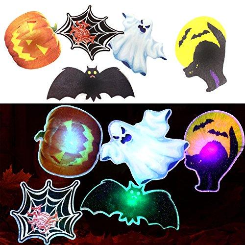 10 Kostüm Region (5tlg Halloween Dekoration Geist Kuerbis Fledermaus Katze Spinne HAIR CLIP Haarreif LED Deko)