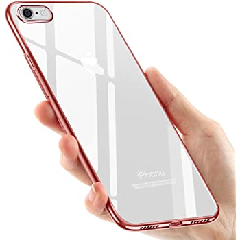 tronisky 8RedTPU Coque iPhone 8 Silicone, Coque iPhone 7, Souple Housse iPhone 8 / iPhone 7 TPU Bumper Case Silicone Gel Shock-Absorption Anti-Rayures Housse Étui pour Apple iPhone 7 / iPhone 8, Or Rose