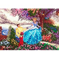 MCG Textiles 52553 Piece Disney Dreams collection Cinderella Vignette Counted Cross Stitch Kit Item , Multi-Colored