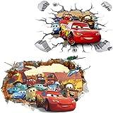 Kibi 2PCS Stickers Muraux Cars 3 Disney Wall Decal Enfants Chambre Bébé Décoration Autocollants Muraux Cars Disney stickers M