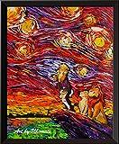 uhomate der König der Löwen Simba Lion King Poster Vincent Van Gogh Starry Night Poster Home auf Leinwand, Jahrestag Geschenke Baby Kinderzimmer Decor Wohnzimmer Wanddekoration 'A025, 8x10 inch