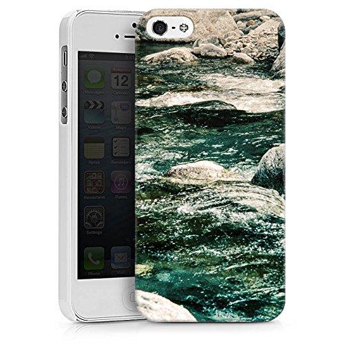 Apple iPhone X Silikon Hülle Case Schutzhülle Fluss Fels Steine Hard Case weiß