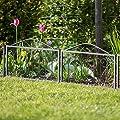Relaxdays 16 teiliges Beetzaun Set Goth, Beeteinfassung zum Stecken, 16 Zaunelemente, Beetbegrenzung, 9 m von relaxdays bei Du und dein Garten