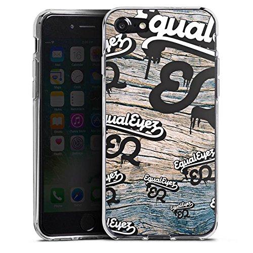 Apple iPhone X Silikon Hülle Case Schutzhülle Equaleyez Schrift Knock on wood Silikon Case transparent