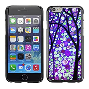 Omega Covers - Snap on Hard Back Case Cover Shell FOR Apple Iphone 6 Plus / 6S Plus ( 5.5 ) - Winter Purple Snow Lights