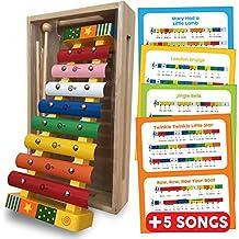 Bee Smart — Xylophone - instruments de musique pour bébé - Instrument de Musique Xylophone en bois pour les enfants - Présenté en boîte en bois. 18 mois