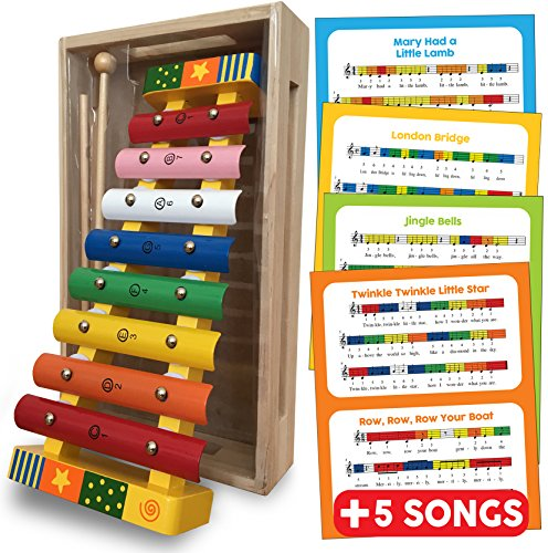 Childrens Wooden Musical Instrument - Xylophone