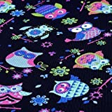 OXFORD Polyester Stoff EULE Navy Pink wasserabweisend