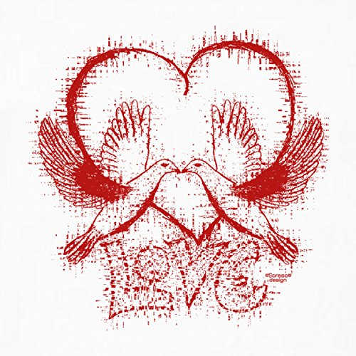 Als Liebesbeweis / T-Shirt Funshirt Girlie für Damen zum Valentin / Geburtstag / VatertagLove Farbe: weiss Weiß
