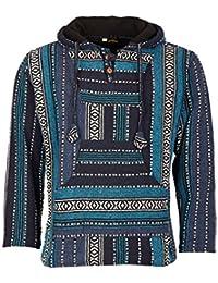 457e4ffdd4a3 Kunst und Magie Nepal Baja Jerga Sweatshirt Poncho mit Fleecefutter Kapuze