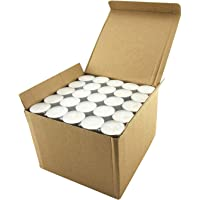 Coku White Tealight Smokeless Diya Unscented Candles - 100 Bulk Pack - 4.5 Hour Burn Time