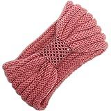 BZLine Frauen stricken Strick Stirnband Winter Warm Haarband Wrap Pink