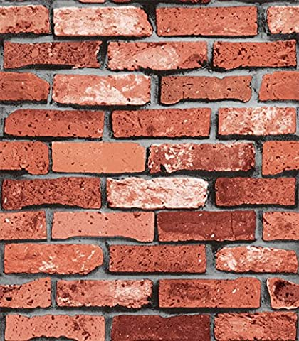 Antique Brick Gray Red Brick Cubic Brick Wallpaper Garment Shop Bar Cafe Background Wall Fake Brick Wallpaper ( Design : 03