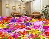 Mbwlkj 3D Tapete Romantische Warm Große Tapete Flower Living Room Schlafzimmer Floor Malerei 3D-Bodenbelag-150cmx100cm