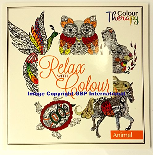 Animal Design Adult Teenager Colouring Book