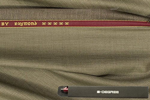 Raymond Trouser Fabric 1Pc 1.3Meter Trouser Length for Men\'s Solid Brown