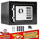 Caja fuerte de pared numérica digital 23x 17x 17cm caja de seguridad electrónica casa Albergo Hotel Safe + 4x AA pilas y llaves de emergencia