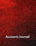 Accounts Journal: Finances Record Financial Accounting Journal Bookkeeping Ledger Paper Entries Notebook ,Columns For Date, Description, Reference, Credit...