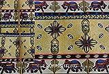 StoffBook BEIGE/SCHWARZ BAUMWOLLE STOFF PATCHWORK AFRIKA