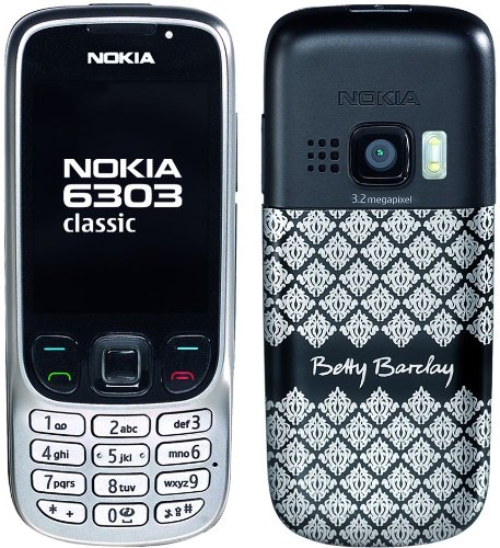 Nokia 6303 classic Betty Barclay Edition ohne Parfüm (Kamera mit 3,2 MP, MP3, Bluetooth) Handy